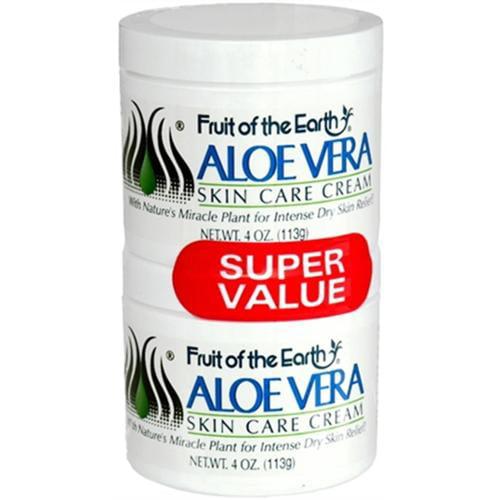 Fruit of the Earth Aloe Vera Cream 8 oz (Pack of 6)