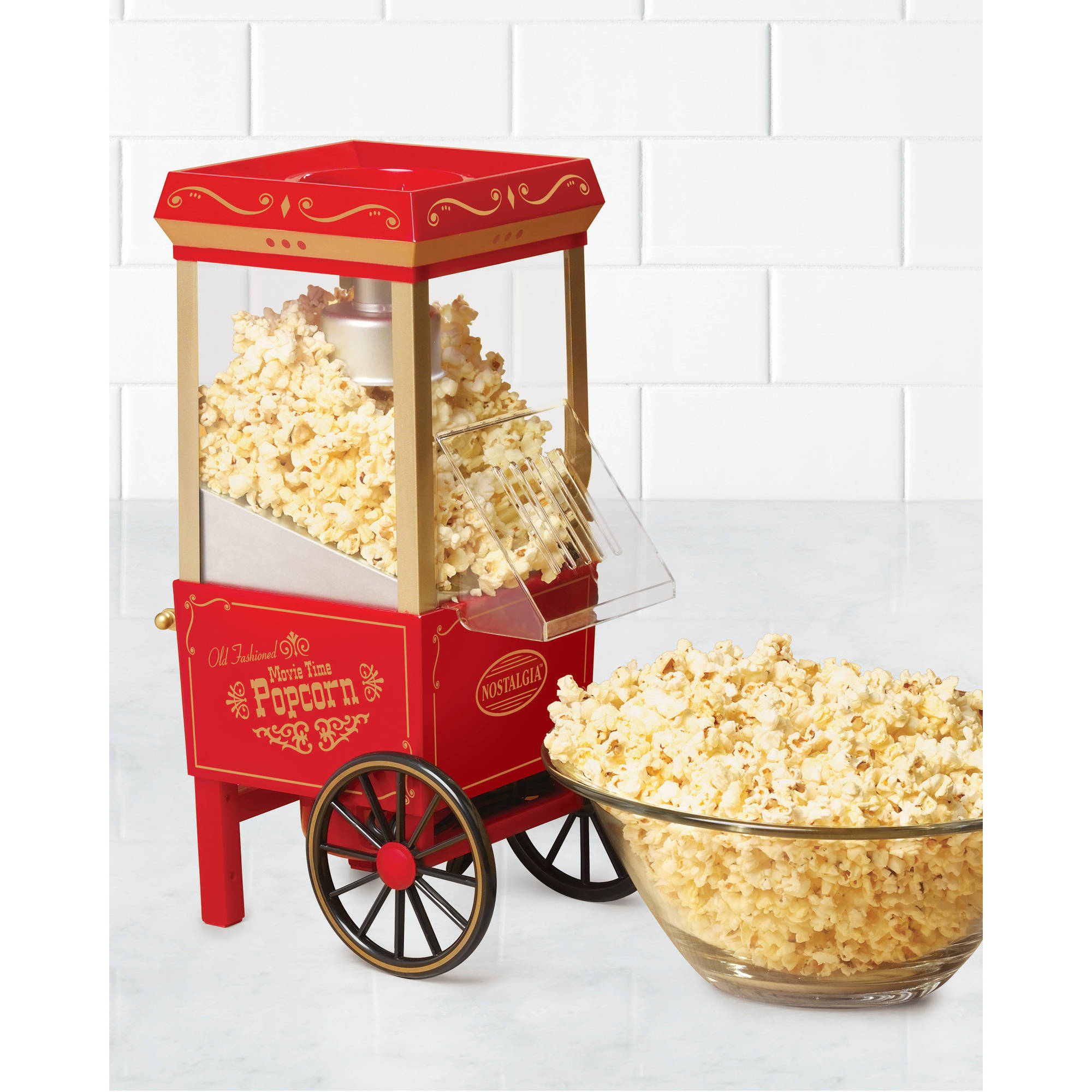 Nostalgia OFP501 Vintage Collection 12-Cup Hot Air Popcorn Maker