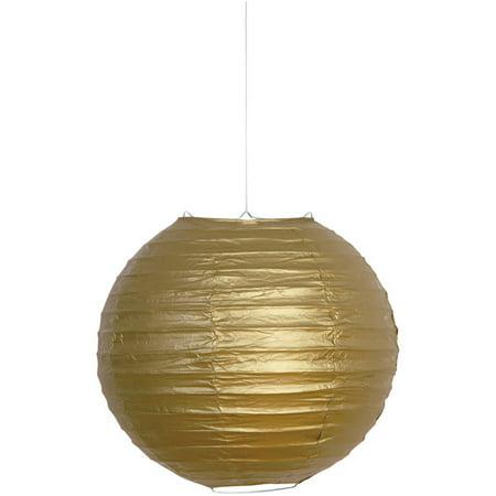 Round Paper Lantern, 10 in, Gold, 1ct](Paper Round Lanterns)