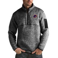 Boise State Broncos Antigua Fortune Big & Tall Quarter-Zip Pullover Jacket - Black