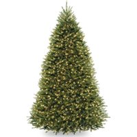 National Tree Pre-Lit 9' Dunhill Fir Hinged Artificial Christmas Tree with 900 Clear Lights