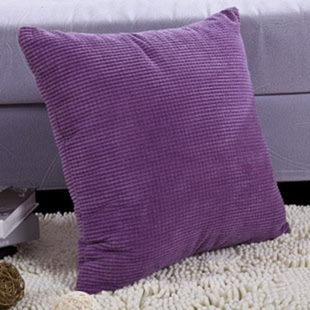 KABOER Large Thick Cord Quality Square Scatter Cushion Covers Solid Color Corduroy US ()