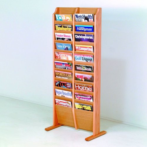Wooden Mallet MR20-FS Free Standing Magazine Rack