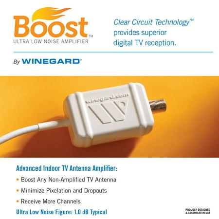 Winegard LNA-100 Boost TV Antenna Amplifier, HDTV Signal Booster, HD Digital VHF UHF Amplifier (USB Power Supply)