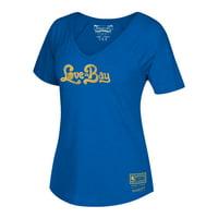 Golden State Warriors Mitchell & Ness Women's Love Bay Hometown V-Neck T-Shirt - Royal