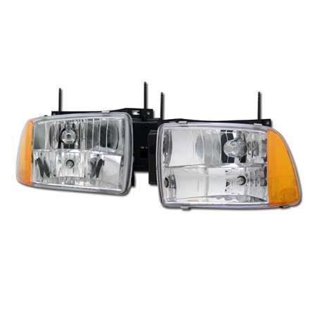Rl Concepts Euro Crystal Headlights Lamps Signal Corner Am Ks 1pc 1995 1997 Chevy Blazer S10