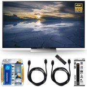 Sony XBR-55X930D 55-Inch Class 4K HDR Ultra HD TV Accessory Bundle includes TV; Screen Cleaning Kit; Power Strip with Dual USB Ports and 2 HDMI Cables