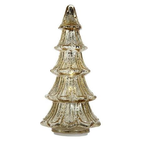 mercury glass lighted 12 inch tabletop golden botanical christmas tree figurine