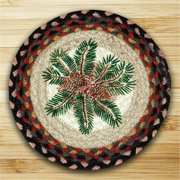 Earth Rugs 80-083PRB Round Miniature Swatch, Pinecone Red Berry, printed