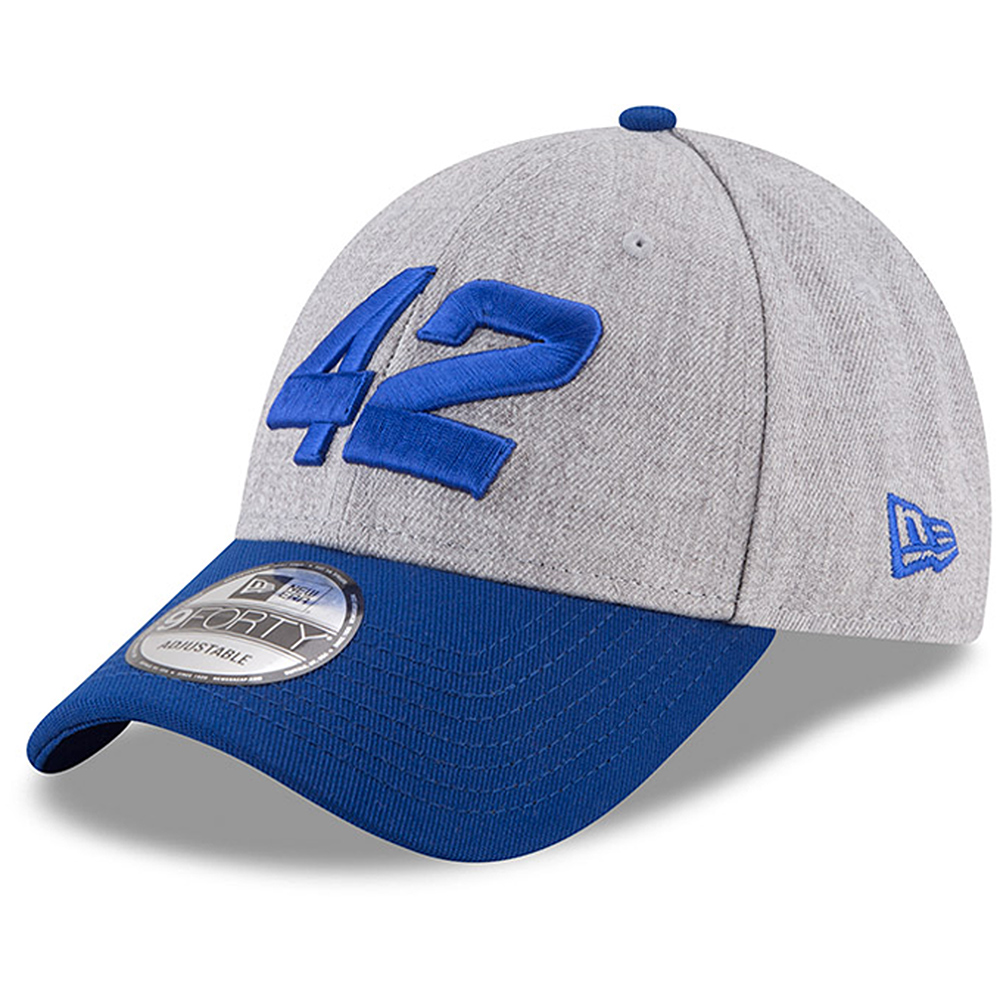 Kyle Larson New Era Driver Number 9FORTY Snapback Adjustable Hat - Heather Gray/Royal - OSFA