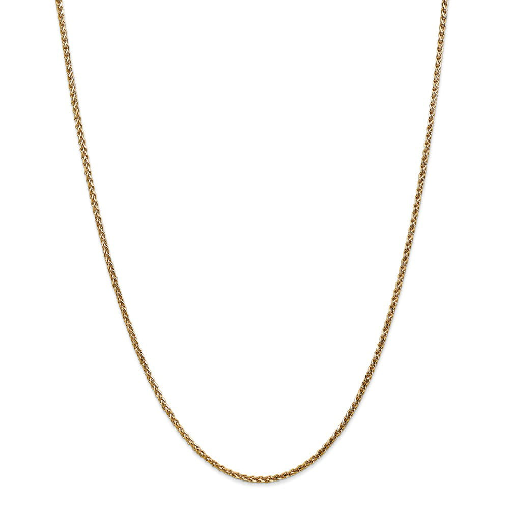 "14K Yellow Gold 1.8mm Solid Diamond-Cut Spiga Necklace Chain -16"" (16in x 1.8mm) by"