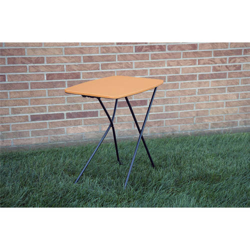 "Cosco 18"" x 26"" Indoor Outdoor Adjustable Height Personal Folding Tailgate Table, 2-Pack, Multiple Colors by Cosco"