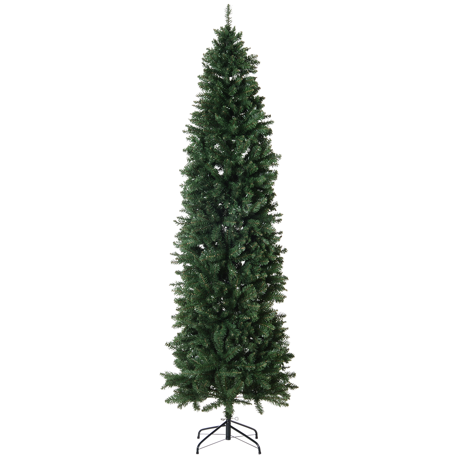 HOMCOM Unlit Slim Fir Artificial Christmas Tree with Realistic Branches and 1075 Tips, 7.5' Tall