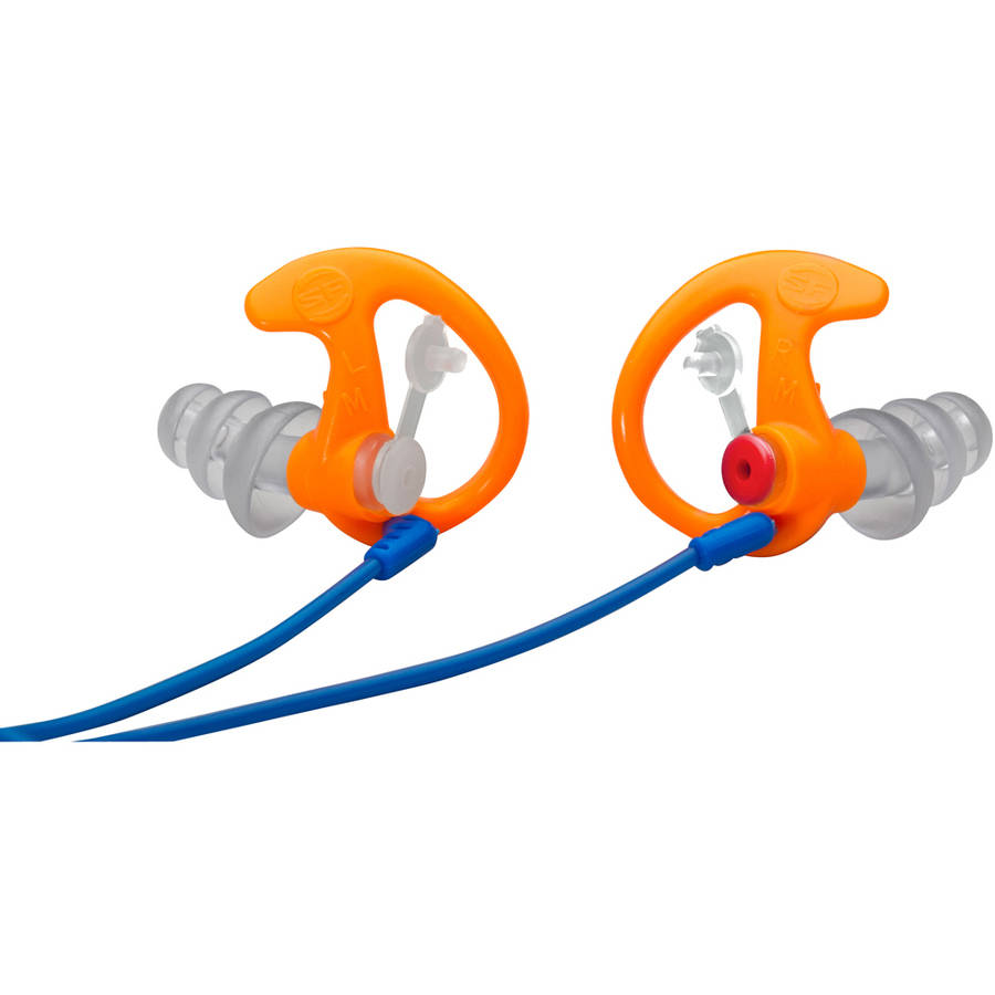 Surefire EP4 Sonic Defender Earplugs, Orange Medium, 1 Pair