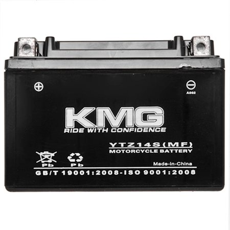KTM 1090 RC8 2009-2012 YTZ14S Sealed Maintenace Free Battery High Performance 12V SMF OEM Replacement Maintenance Free Powersport Motorcycle ATV Scooter Snowmobile KMG - image 2 de 3