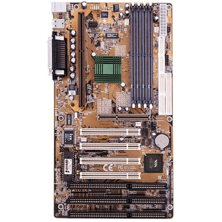 Via Chip Set Motherboard (Refurbished-ShuttleHOT-661VSlot 1 Pentium III motherboard with 3 ISA slots. VIA Apollo Pro (VT82C693) Chipset. 1AGP, 4PCI, 3ISA slots. 4DIMM sockets. ATX form)
