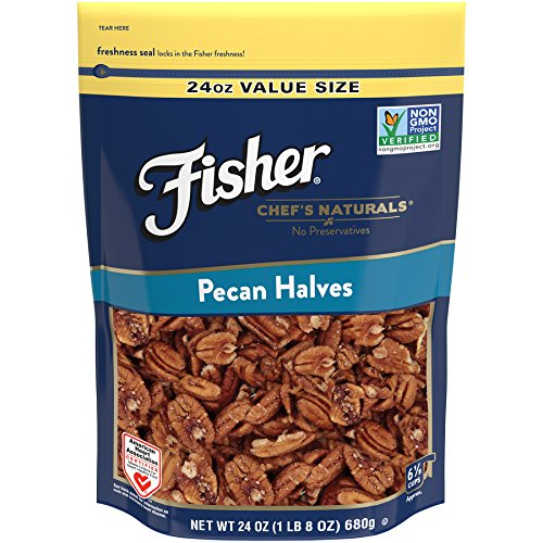 Fisher Chef's Naturals Pecan Halves, Non-GMO, 24 oz