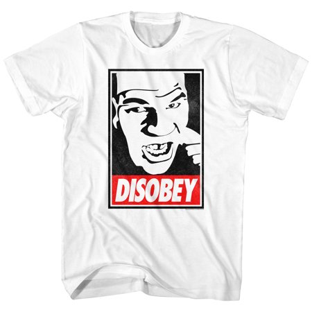 Iron Mike Tyson Disobey Image Boxing Champion American Classics Adult T Shirt