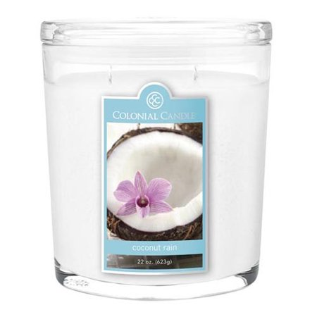 Colonial Candle Two-Wick 22 Oz. Oval Jar - Coconut Rain