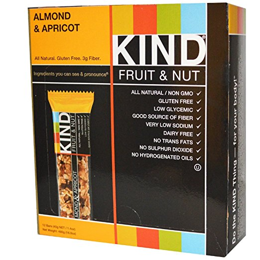 KIND FRUIT & NUT BARS BAR,ALMOND & APRICOT, 1.4 OZ