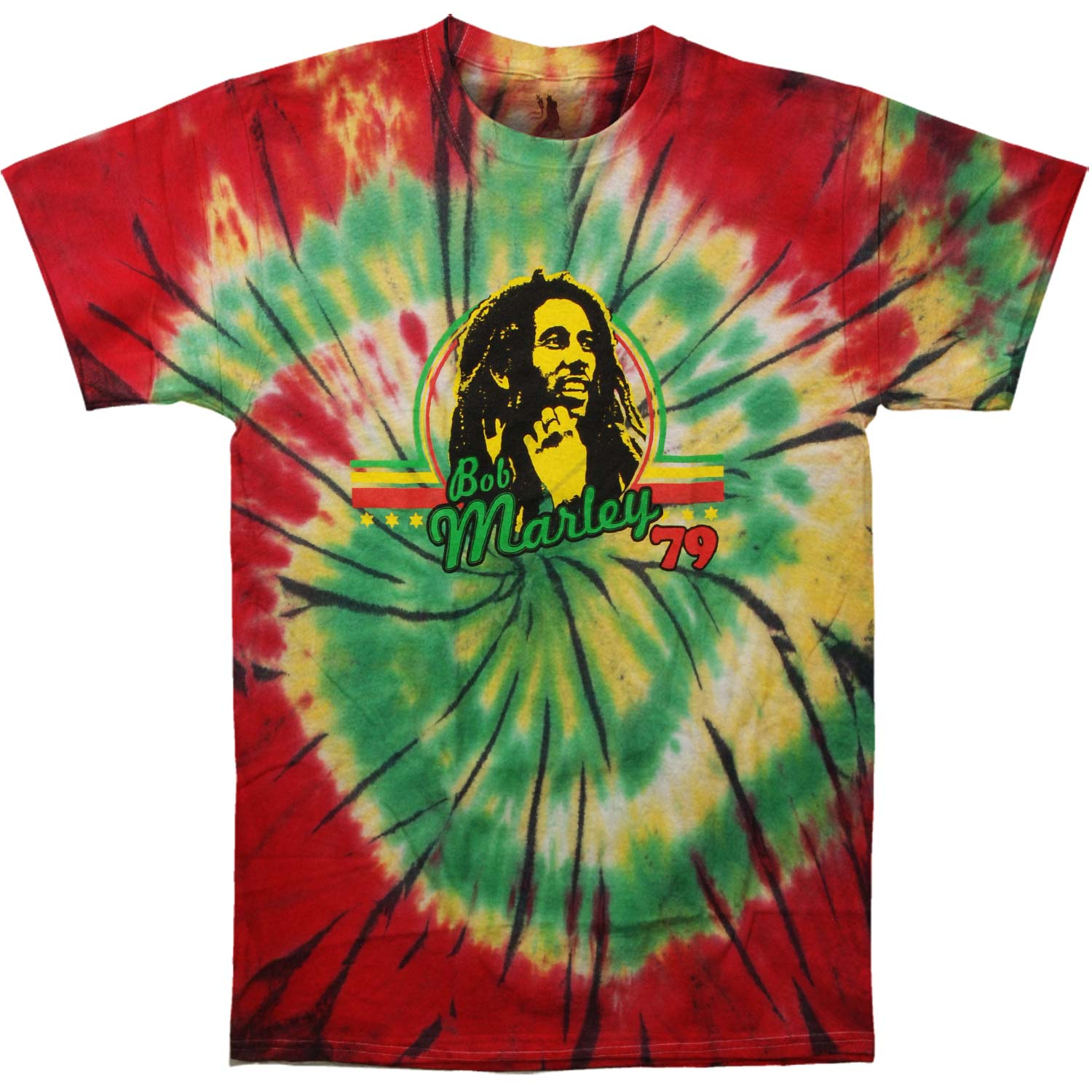 Bob Marley Men's  '79 Tie Dye T-shirt Multi