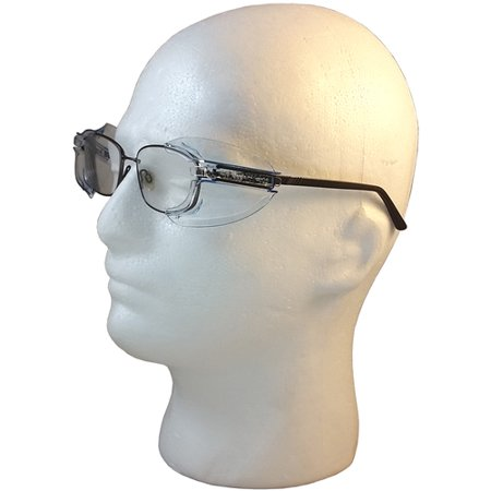 Universal Safety Glass Side Shields (Light Blue, Small (Glasses Shields)