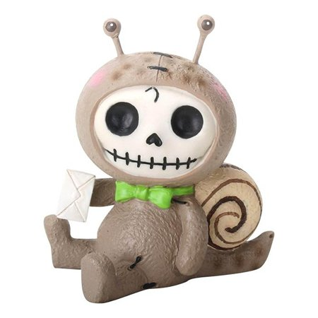 Furrybones Den Den Skeleton Dressed in Snail Costume Halloween Figurine - Putnam Den Halloween
