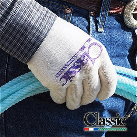 CLASSIC EQUINE DELUXE ROPING GLOVE SYNTHETIC BLEND COTTON KID