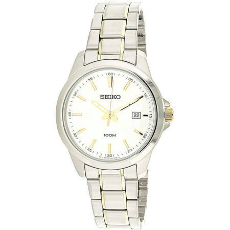 Seiko Men's Tactically Aq SUR157 Silver Metal Quartz Fashion Watch