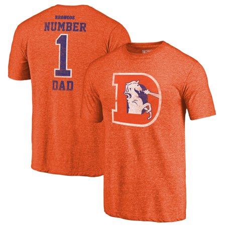 the latest 13d7a 9da9b Denver Broncos NFL Pro Line by Fanatics Branded Greatest Dad Retro  Tri-Blend T-Shirt - Orange
