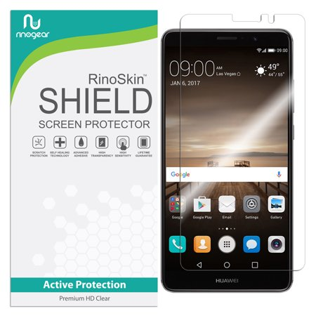 Huawei Mate 9 Screen Protector RinoGear Flexible HD Crystal Clear Anti-Bubble Unlimited Replacement Film](huawei mate 9 us)