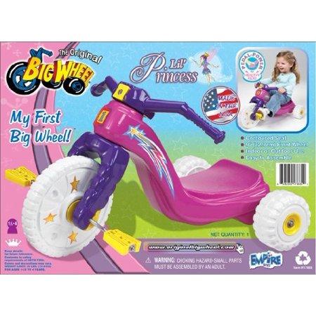 "My 1st Lil' Princess Big Wheel 9"" Trike by The Original Big Wheel with White Wheels"
