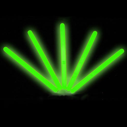 "Lumistick 4"" Glow Sticks, Green, 50 ct"