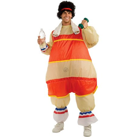 Inflatable 80s Workout Guy Adult Costume - 80s Attire Male