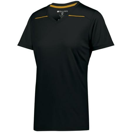 Holloway Sportswear XL Womens Defer Wicking Shirt Navy/Gold 222760 ()