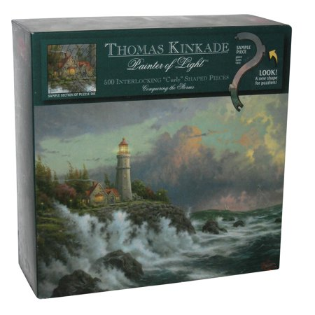 Thomas Kinkade Conquering The Storms Painter of Light 500pc Puzzle - (Glow In The
