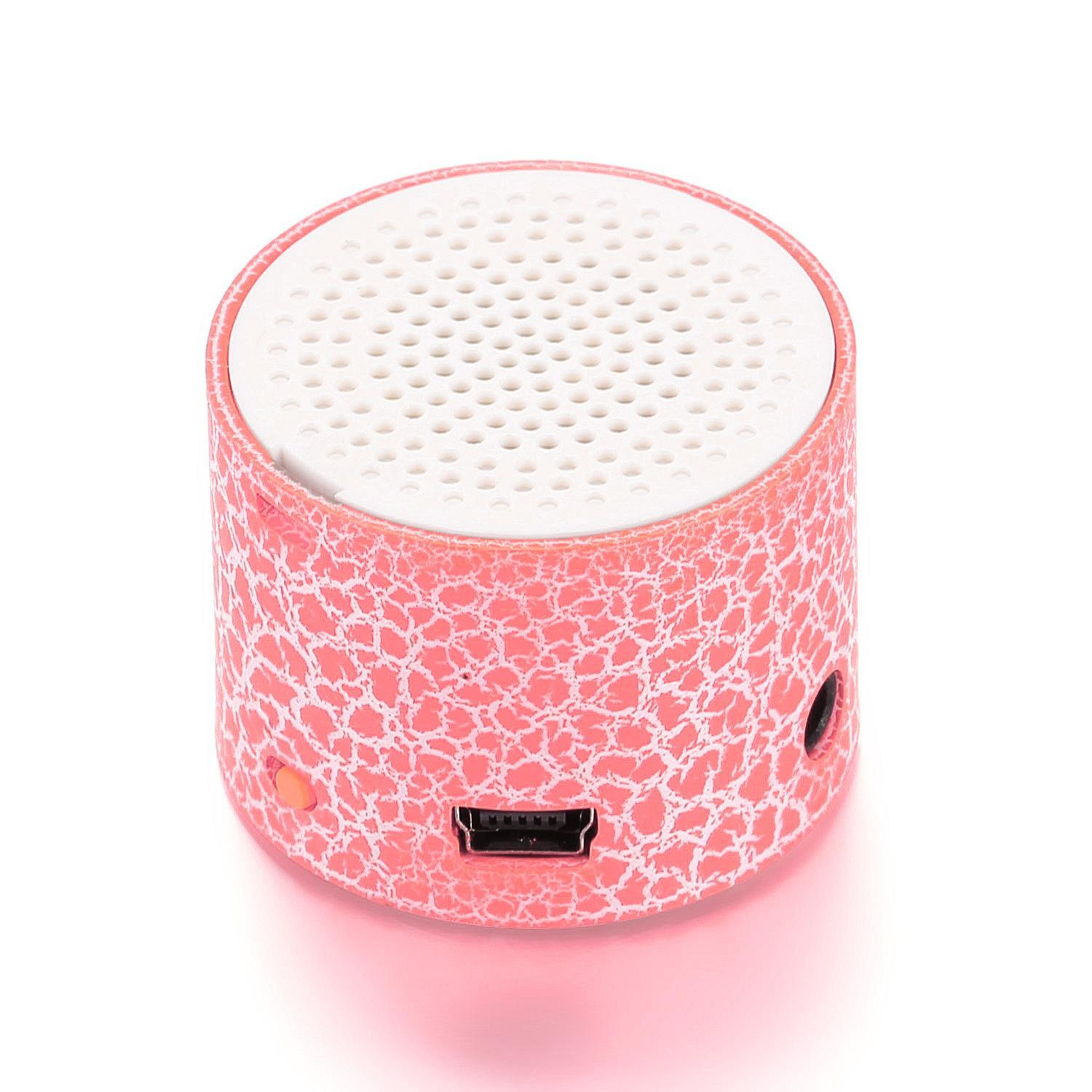 Mini Portable LED Speakers Wireless Hands Free Speaker with TF Port Elec