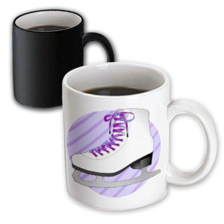 Purple Gifts (3dRose Figure Skating Gifts - Purple Ice Skate on Stripes, Magic Transforming Mug,)