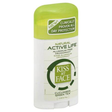 Kiss My Face - Natural Active Life Deodorant Stick Aluminum Free Cucumber Green Tea - 2.48 oz.