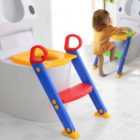 anti slip potty training ladder step up seat toilet contoured cushion training step stool for. Black Bedroom Furniture Sets. Home Design Ideas