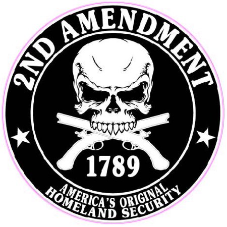 "2nd Amendment Right To Bare Arms 10"" Decal Free Shipping in the United States."
