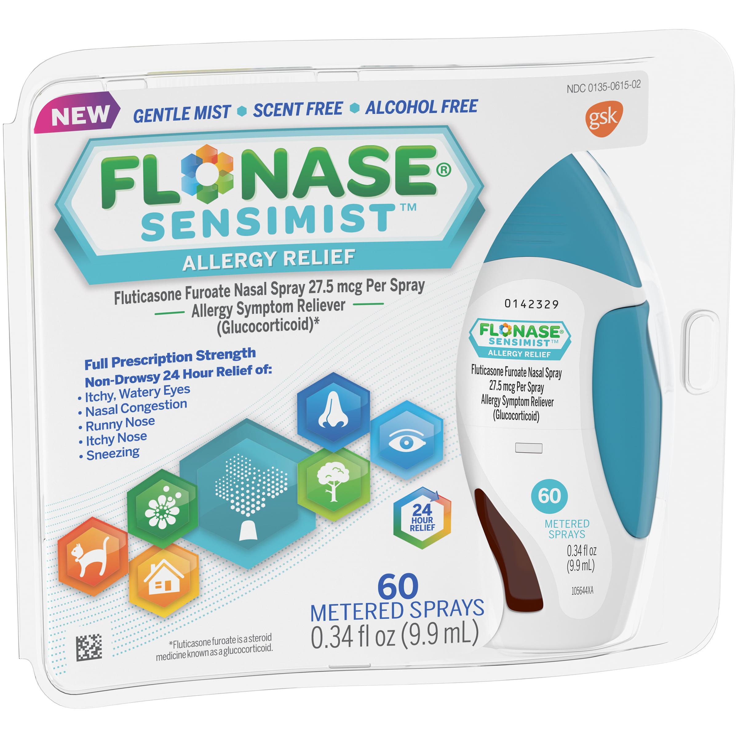 Flonase Sensimist Allergy Relief Spray, 60 Metered Sprays, 0.34 fl. oz.