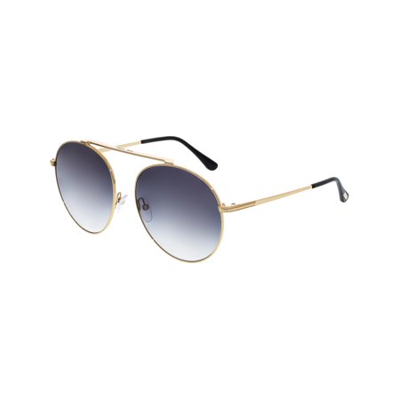 Tom Ford Women's Gradient Simone-02 FT0571-28B-58 Gold Oval Sunglasses