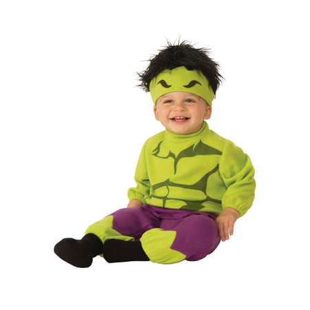 Marvel Classic Incredible Hulk Infant Newborn Boy Jumpsuit Costume