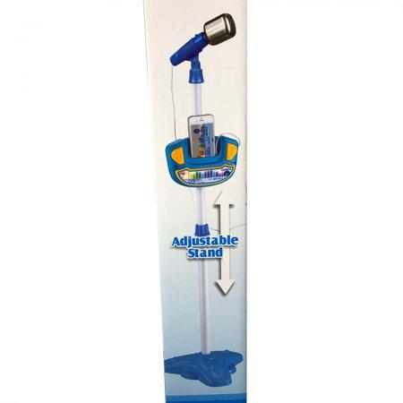 Kids Play Time Musical Microphone Karaoke Machine MP3 Singing Adjustable Stand