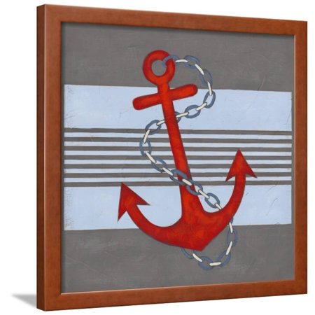 Nautical Graphic III Framed Print Wall Art By June Erica Vess