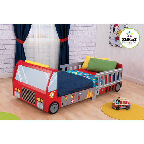 KidKraft - Fire Truck Toddler Bed