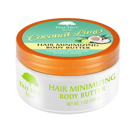 Tree Hut bare Hair Minimizing Body Butter, 7oz, Essentials for Soft, Smooth, Bare Skin Smoothing Body Buffer