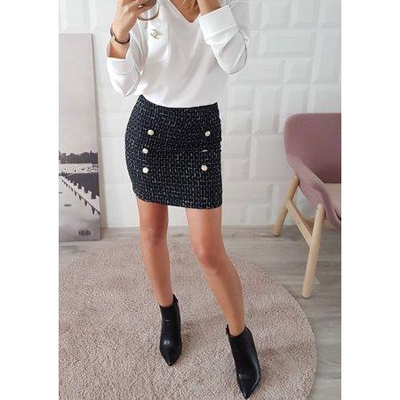 Waisted Wool - Sexy Fashion Bag Hip Woolen Blended Yarn-dyed High Waist Skirt Mini Skirt
