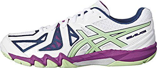ASICS ASICS Women's Gel Blade 5 Indoor Court Shoe, WhitePistachioGrape, 10.5 M US
